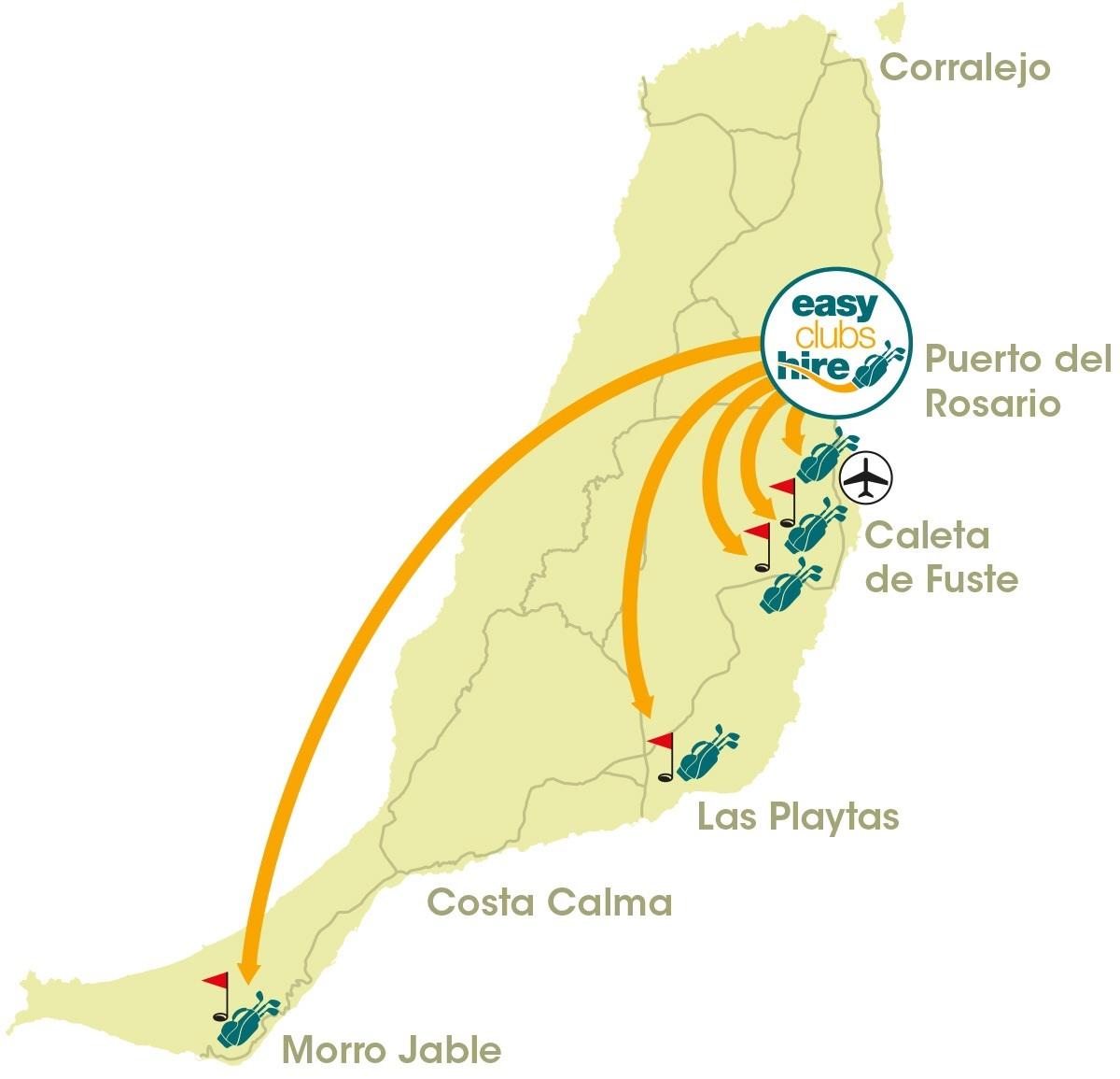 Fuerteventura map free delivery areas
